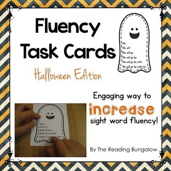Sight Word Fluency Sentences {Halloween Edition}