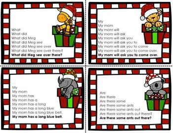 Sight Word Fluency Sentences {Christmas Edition}