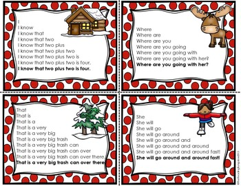 Sight Word Fluency Sentences {Winter Edition}