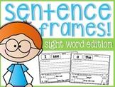 Sight Word Sentence Frames!