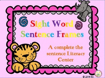 Sight Word Sentence Frames