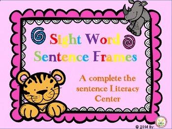 Sight Word Sentence Frames