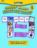 Sight Word Sentence Frames Level 1 Bundle