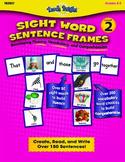 Sight Word Sentence Frames Level 2 Bundle