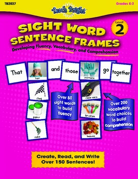 Sight Word Sentence Frames Level 2 Bundle