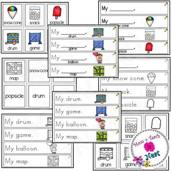 Sight Word Sentence Frames *Sentence Helpers *Sentence Starters- Word Set: my
