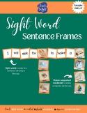 Sight Word Sentence Frames Unit 17