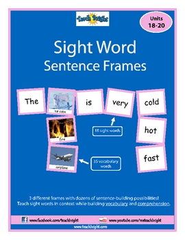 Sight Word Sentence Frames Units 18-20