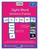 Sight Word Sentence Frames Units 5-7