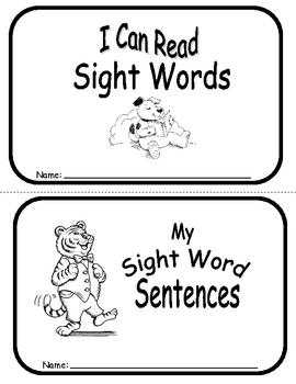 Sight Word Sentence Frames Units 8-10