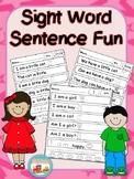 Sight Word Kindergarten Sentence Fun