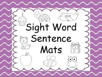 Sight Word Sentence Mats