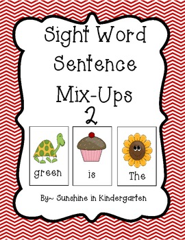 Sight Word Sentence Mix Ups 2