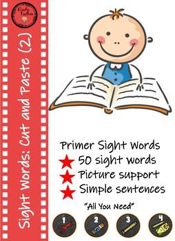 Sight Word Sentence Order - Set 2