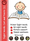 Primer Sight Words Cut and Paste ( Set 2)