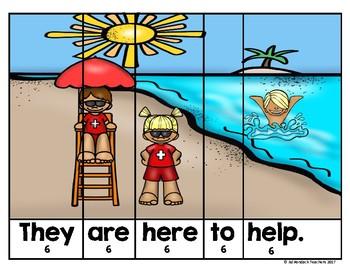 Sight Word Sentence Puzzles Beach Fun