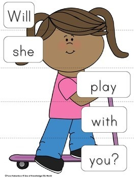 Sight Word Sentence Puzzles Primer {Part 5}