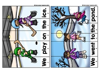 Sight Word Sentence Puzzles Winter Fun