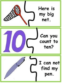 Sight Word Sentence Puzzles With /e/ and /u/ Pictures
