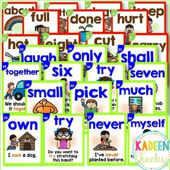 Sight Word Sentence Readers - Dolch 3RD Grade
