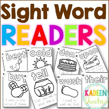 Sight Word Sentence Readers-Dolch 2nd Grade B/W