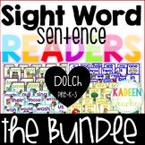 Sight Word Sentence Readers-Dolch Pre-K-3 Bundle