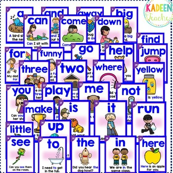 Sight Word Sentence Readers Dolch Pre-Primer