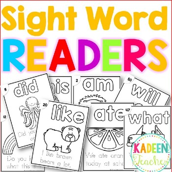 Sight Word Sentence Readers Dolch Primer B/W