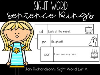 Sight Word Sentence Rings