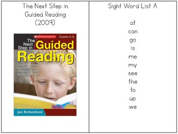 Sight Word Sentence Rings-List A