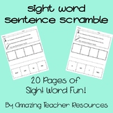 Sight Word Sentence Scramble! - A Bundle of 20 Different Pages!