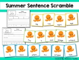 Sight Word Sentence Scramble Cards and Cut and Paste Worksheets: Summer Edition