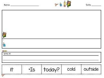 Sight Word Sentence Scramblers Cut & Paste FREEBIE SAMPLE