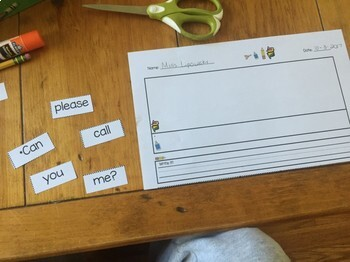 Sight Word Sentence Scramblers Cut & Paste NO PREP  SET 2