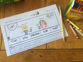 Sight Word Sentence Scramblers Cut & Paste NO PREP SET 1 A