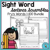 Sight Word Sentence Scrambles Bundle