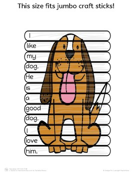 Sight Word Sentence Stick Puzzles