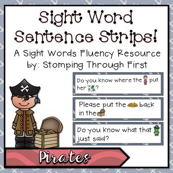 Sight Word Sentence Strips: Pirates Set