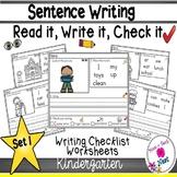 Writing Sentences Kindergarten Worksheets Teaching Resources Tpt - 38+ Kindergarten Free Sentence Writing Worksheets Gif
