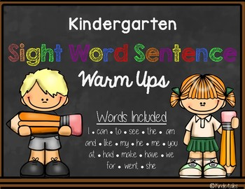 Sight Word Sentence Warm Ups