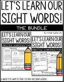 Sight Words - Practice Worksheets