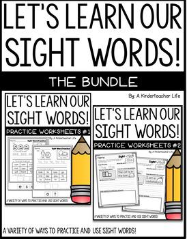 Sight Word Sentence Writing Bundled