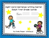 Sight Word Sentence Writing Center - Dolch 1st Grade