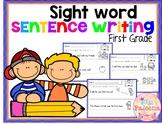 Sight Word Sentence Writing (First Grade)
