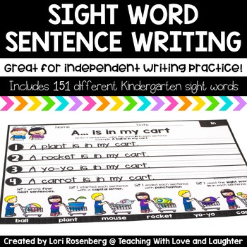 Sight Word Sentence Writing