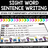 Sight Word Sentence Writing Distance Learning