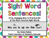 Sight Word Sentences: A NEW way to practice Sight Word Fluency! (preK, K, 1st)