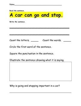 Sight Word Sentences