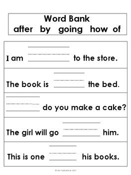 Sight Word Sentences 1st Grade Edition
