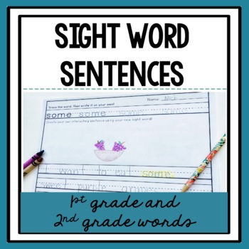 Sight Word Sentences {1st and 2nd Grade Words}
